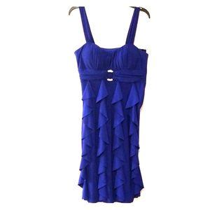 Betsy & Adam Blue Dress w/ Circle Rhinestone